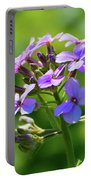 Light Purple Flowers  Portable Battery Charger