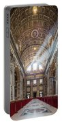 Light Rays In St Peter's, Rome Portable Battery Charger
