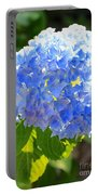 Light Through Blue Hydrangeas Portable Battery Charger
