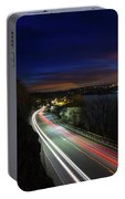 Light Trails On Highway 99 Portable Battery Charger