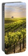 Lighted Vineyard Portable Battery Charger by Sharon Foster