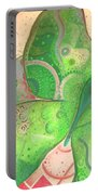 Lighthearted In Green On Red Portable Battery Charger