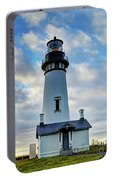 Lighthouse And Clouds Portable Battery Charger