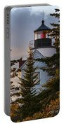 Lighthouse At Bass Harbor Portable Battery Charger