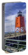 Lighthouse At Charlevoix South Pier  Portable Battery Charger