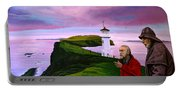 Lighthouse At Mykines Faroe Islands Portable Battery Charger