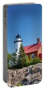 Lighthouse Eagle Harbor Lake Superior -6533 Portable Battery Charger