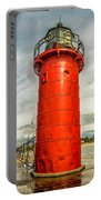 Lighthouse In South Haven Portable Battery Charger