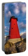 Lighthouse Manistique Sunset -5350 Portable Battery Charger