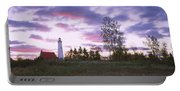 Lighthouse On A Landscape, Tawas Point Portable Battery Charger