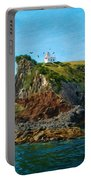 Lighthouse On Cliff Dunedin New Zealand Portable Battery Charger