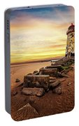 Lighthouse Sunset Wales Portable Battery Charger