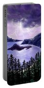 Lightning In Purple Clouds Portable Battery Charger