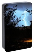 Lightning On The Distant Mountains Portable Battery Charger