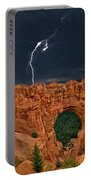 Lightning Over Natural Bridge Formation Bryce Canyon National Park Utah Portable Battery Charger by Dave Welling