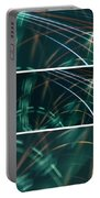 Green Film Grain Lightpainting Abstract Portable Battery Charger