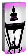Lightshade In A Hint Of Purple Portable Battery Charger