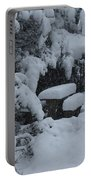 A Snowy Secret Garden Portable Battery Charger