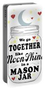 Like Moonshine In A Mason Jar Portable Battery Charger