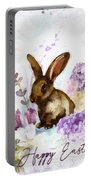 Lilac And Bunny Portable Battery Charger