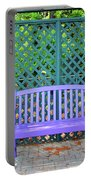 Lilac And Teal Garden Portable Battery Charger
