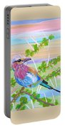 Lilac Breasted Roller In Thorn Tree Portable Battery Charger