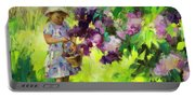 Lilac Festival Portable Battery Charger