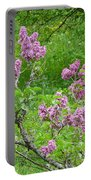Lilac In The Spring Meadow Portable Battery Charger