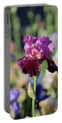 Lilac Iris In Bloom Portable Battery Charger