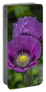 Lilac Poppy Portable Battery Charger