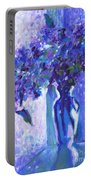 Lilac Rain  Portable Battery Charger
