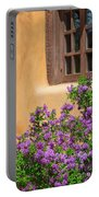 Lilacs And Adobe Portable Battery Charger