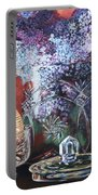 Lilacs And Candles Portable Battery Charger