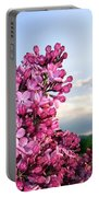Lilacs And Green Pastures Portable Battery Charger