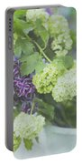 Lilacs And Snowballs Portable Battery Charger