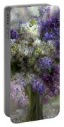 Lilacs Of Love Portable Battery Charger by Carol Cavalaris