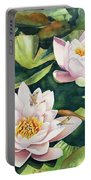 Lilies And Dragonflies Portable Battery Charger