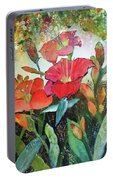Lilies And Hummingbird Portable Battery Charger