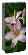 Lilies And Raindrops Portable Battery Charger