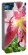 Lilies Art Prints Pink Lily Flowers 2 Giclee Prints Baslee Troutman Portable Battery Charger