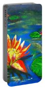 Lilies By The Pond Portable Battery Charger