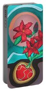 Lilies For My Love Portable Battery Charger by Aliya Michelle