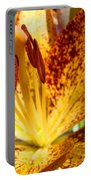 Lilies Glowing Orange Lily Flower Floral Art Print Canvas Baslee Troutman Portable Battery Charger
