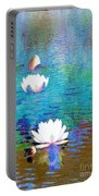 Lilies In Abstract Portable Battery Charger
