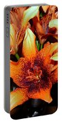Lilies In The Shadow Portable Battery Charger