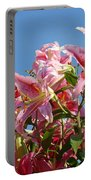 Lilies Pink Lily Flowers Art Prints Floral Summer Garden Baslee Troutman Portable Battery Charger