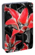 Lilies With A Splash Of Color Portable Battery Charger