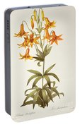 Lilium Penduliflorum Portable Battery Charger