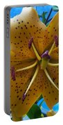 Lilium Yellow Portable Battery Charger