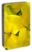 Lilly Flowers Art Prints Yellow Lilies Floral Baslee Troutman Portable Battery Charger